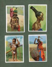 Cigarette cards set Exotic People of World 1925 India, Burma, African tattoos,